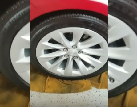Ceramic Car Coating Paint Protection Detail to Exterior Wheels and Tires.