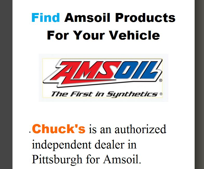 Amsoil Products - Synthetic Lubricants, Motor Oil, Fuel Additives, Oil Filters, Air Filters